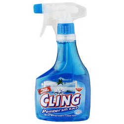 CLING Cling Glass Cleaner Biru Botol 440ml