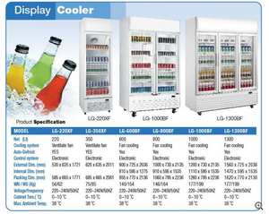 DISPLAY COOLER LG‐600BF (DOUBLE DOORS)