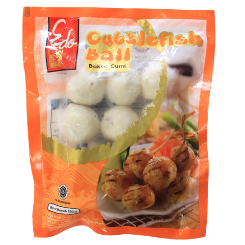Edo Cuttle Fish Ball 250 gr 1 Ctn (Isi 24 Pack)