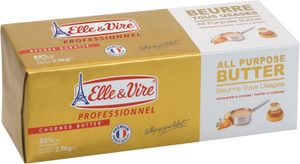Elle & Vire All Purpose Butter Churned 82% 2.5 Kg