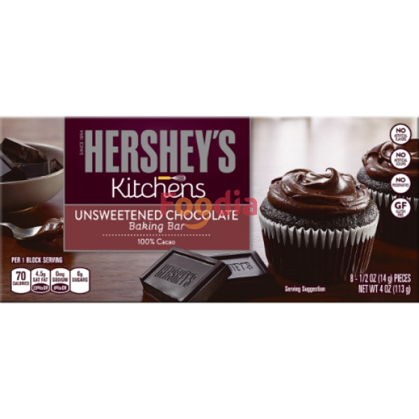 Hersheys Baking Bar Unsweetened 113 Gr Biskuit Dan Snack