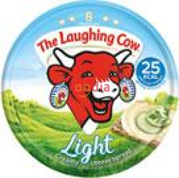 Laughing Cow	Cheese Spread Light - 8 Portions 140 Gr Keju