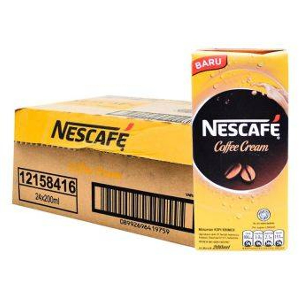 NESCAFE Coffee CreamUHT Cmbk 200ml 1 Ctn (Isi 36 pcs)