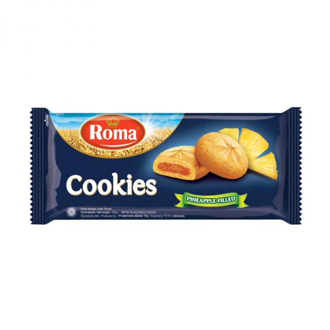 Roma Cookies Pineapple Fampack 72 Gr