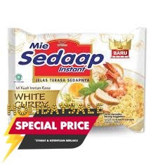 SEDAAP Mie Sedaap White Curry 75gr 1 Ctn (Isi 40 pcs)