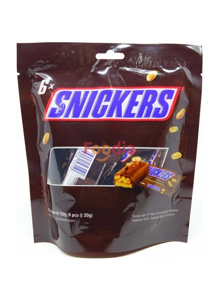 Snickers	Snickers Pouch 120 Gr  Coklat