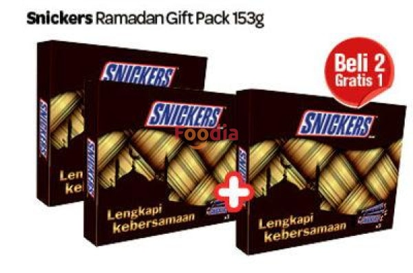 Snickers	Snickers Ramadhan Gift Pack 1.224 Gr Coklat