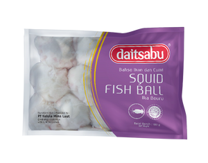 Daitsabu Squid Fishball 180gr 1 Ctn (Isi 33 pack)