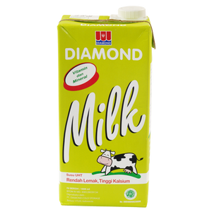Diamond Susu Uht Low Fat Hi 1L 1 Ctn (Isi 12 pcs)