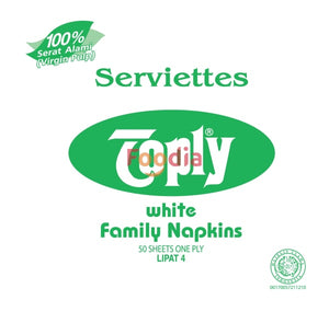 Toply Toply Napkin Mg White Luncheon 50S Tissue