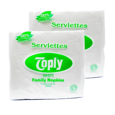 Toply Napkin MG White Luncheon 100's Potong 2 1 CT