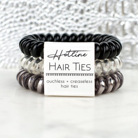 Hotline Hair Tie - Black Diamond