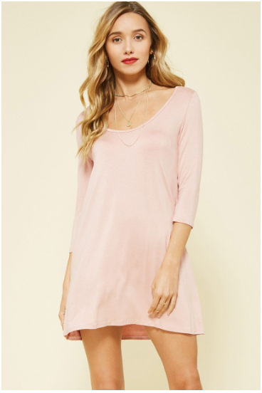 Bella Blush 3/4 Sleeve Tunic
