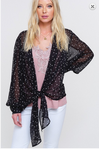 Star Chiffon Wrap Top