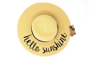C.C. Embroidered Sun Hat