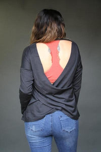 Wrap Back Sweatshirt