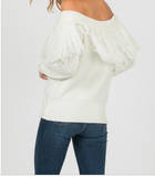 Ivory Fringe Sweater