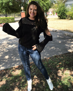 Crochet Cold Shoulder Knit