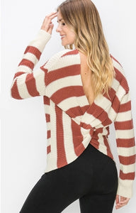 Marsala Twist Back Sweater