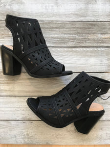 Black Cutout Bootie