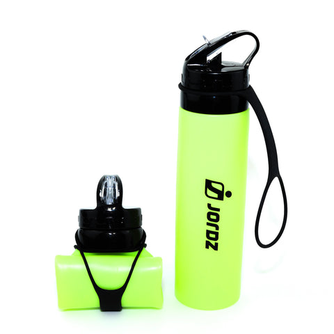 AqaSplash™ Silicone Water Bottle - Yellow