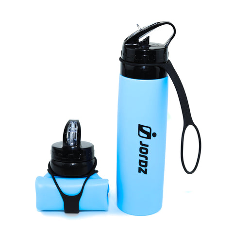 AqaSplash™ Silicone Water Bottle - Blue