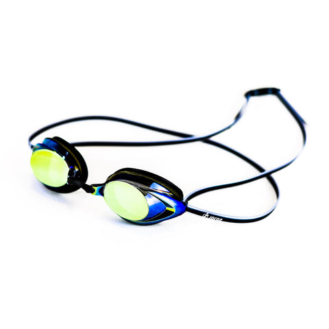 AqaGlyde™ Mirror Swimming Goggles - Blue/Yellow