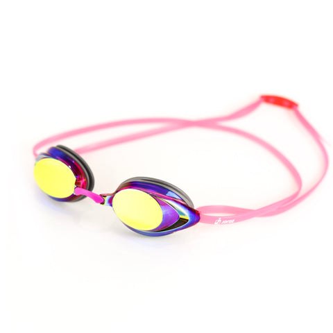AqaGlyde™ Mirror Swimming Goggles - Pink/Yellow