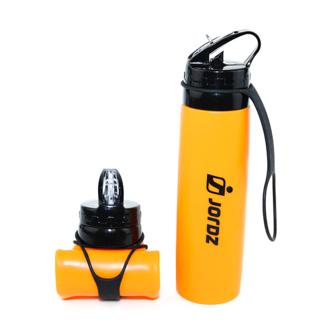 AqaSplash™ Silicone Water Bottle - Orange