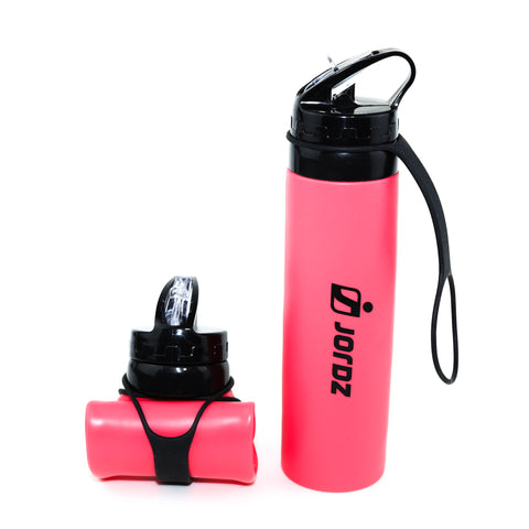 AqaSplash™ Silicone Water Bottle - Pink