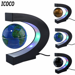 World Map Magnetic Lamp