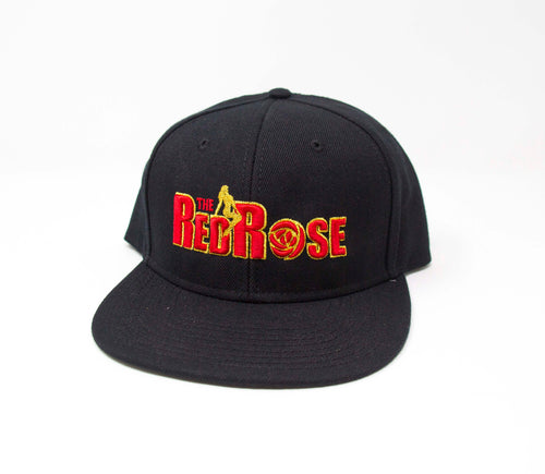 Red Rose Black Snapback