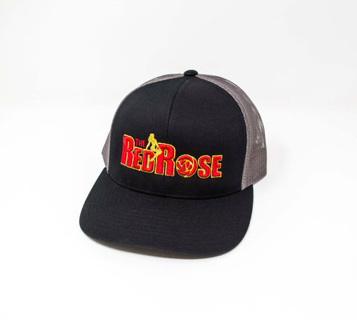 Red Rose Trucker Char and Black