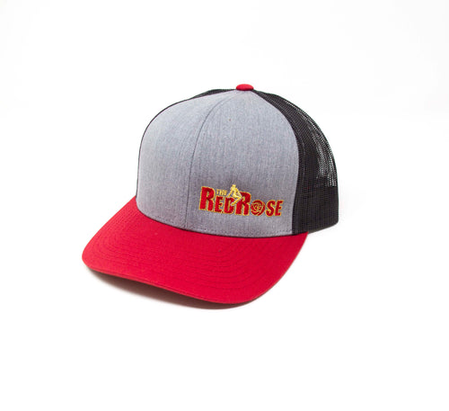 Red Rose Tri Color Trucker