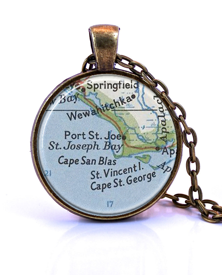 Exclusive Forgotten Coast Map Necklace