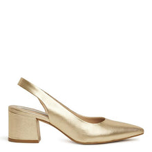 KATHRYN WILSON Carolyn Heel Gold Leather