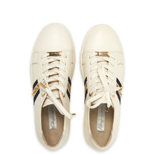 Kathryn Wilson Coco Trainer White Pebble Leather