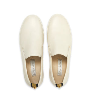 Kathryn Wilson Ruby Loafer White Pebble Leather