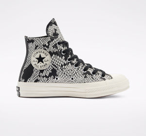 Converse CT 70 Leather Snake Print Hi Egret/Black