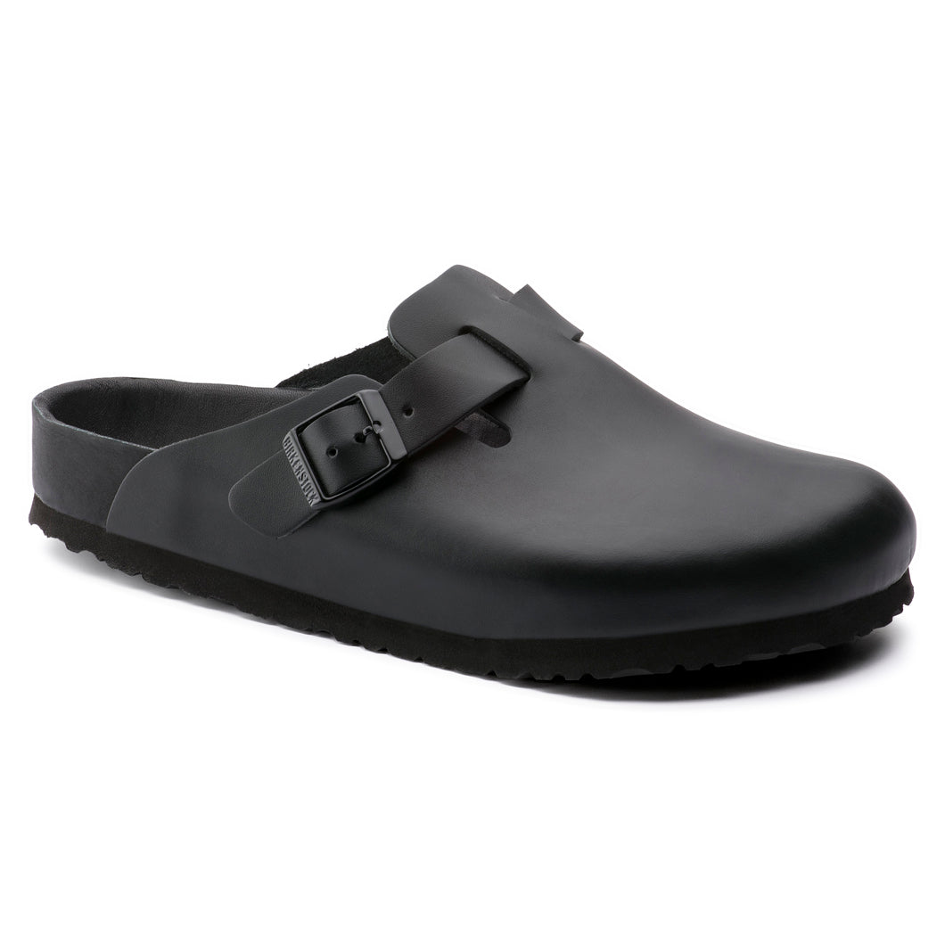 Birkenstock Boston Exquisit Black Leather Regular
