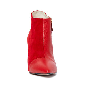 Kathryn Wilson Houston Boot Red Suede/Calf