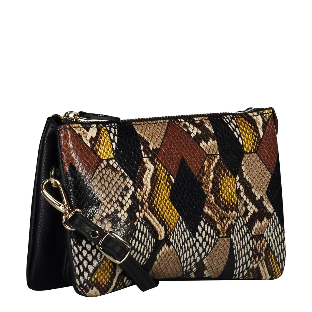 Saben Tilly With Strap Patchwork Python
