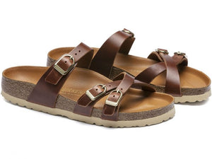 Birkenstock Franca Oiled Leather Cognac Regular