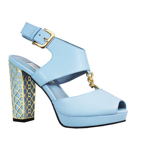 Kathryn Wilson Blushing Bride Powder Blue Leather
