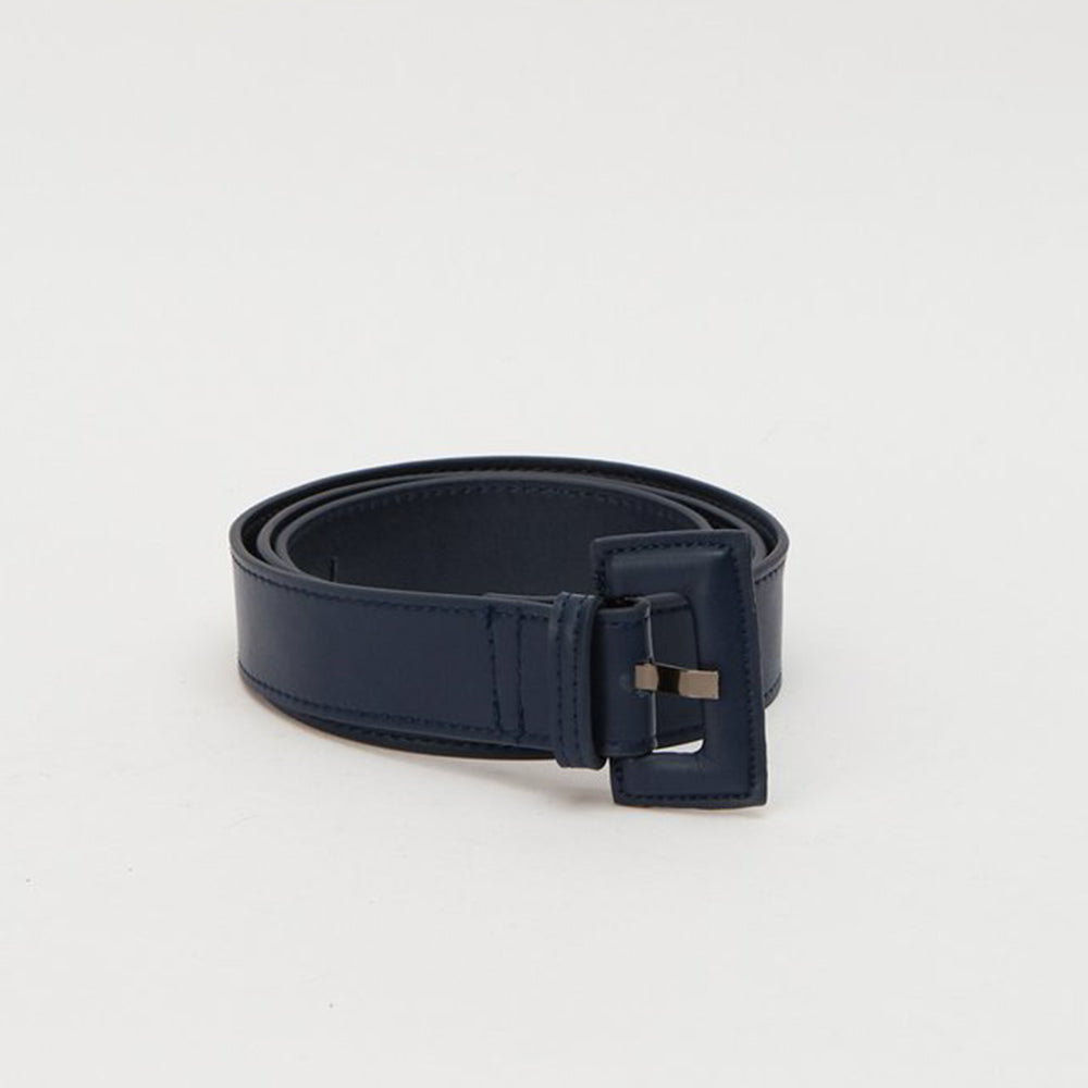 Jaggar The Label Buckle Belt Navy OS
