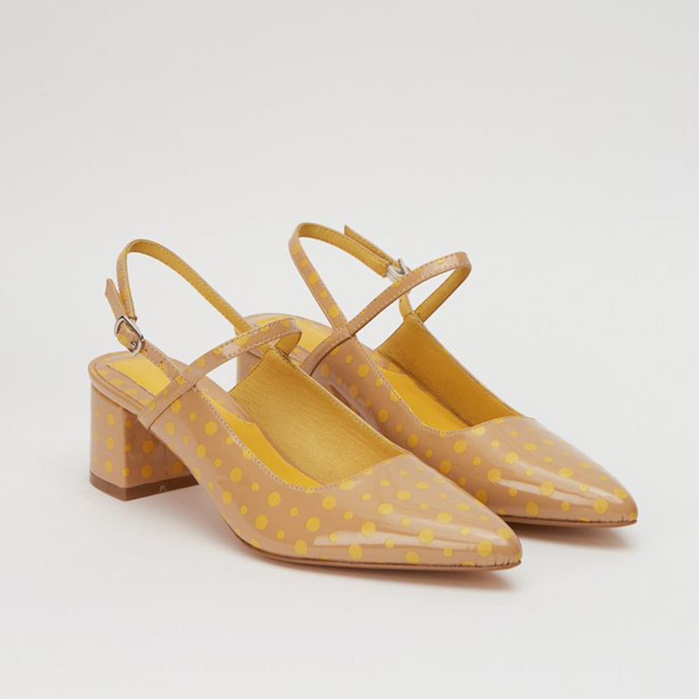 Jaggar The Label Rein Spot Pump Nude/Yellow