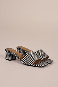 JAGGAR The Label Meadow Houndstooth Slide