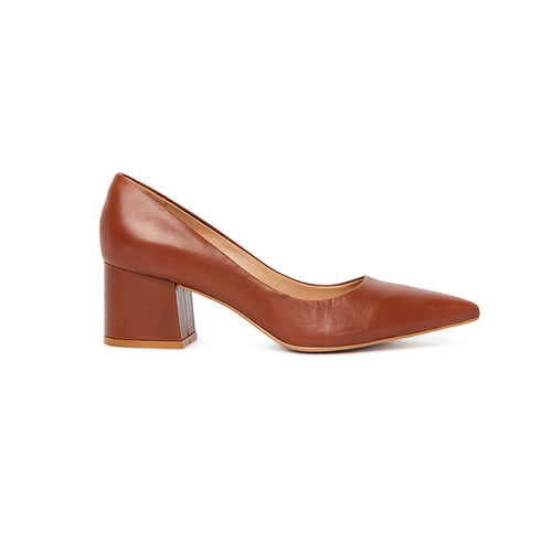 Kathryn Wilson Michelle Heel Tan Leather