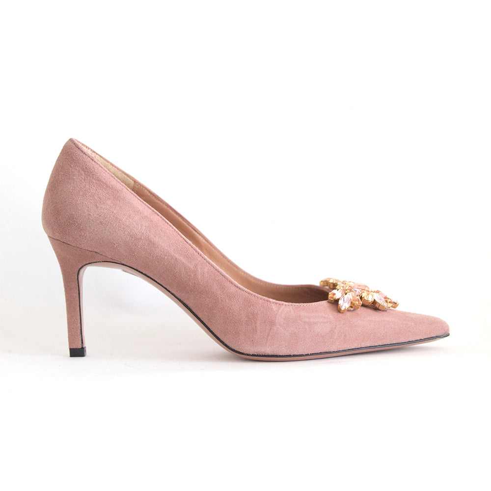 Oxitaly Stefy 417 Pink Suede/Jewels