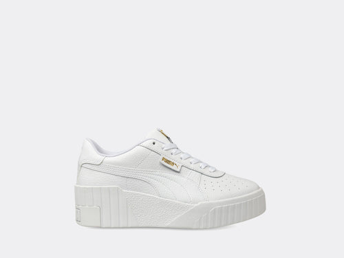 Puma Cali Wedge Womens White-White
